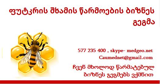 ფუტკრის შხამი - წარმოების ბიზნეს გეგმის მომზადება 577 235 400